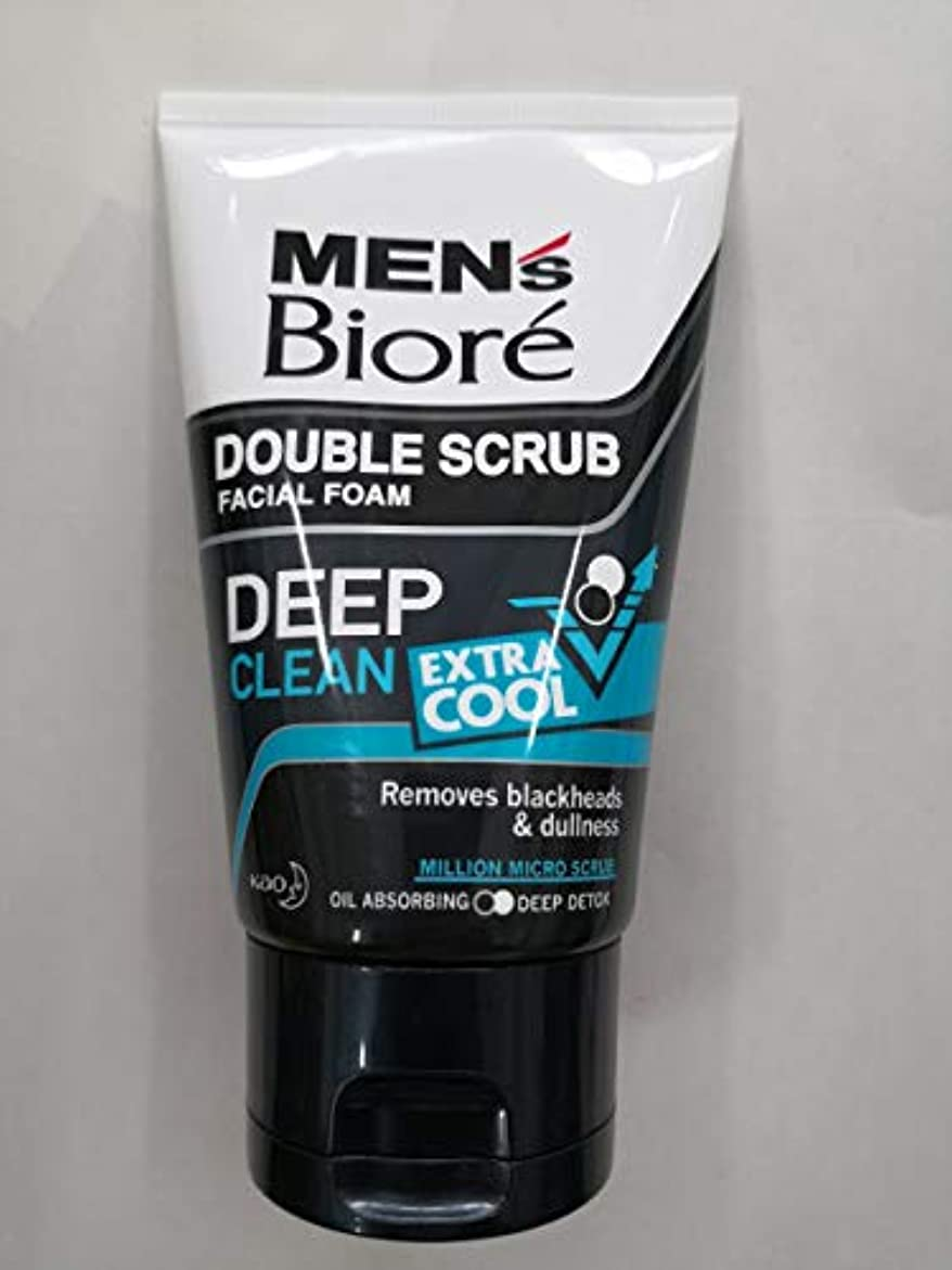 五十異形エレクトロニックBiore Men's ダブルスクラブ余分なクールな顔泡100グラム、なめらかな明るい&健康な皮膚。 - 非常にクール&さわやかな感覚。