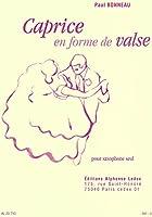 ボノー : ワルツ形式による無伴奏カプリス (サクソフォンソロ) ルデュック出版