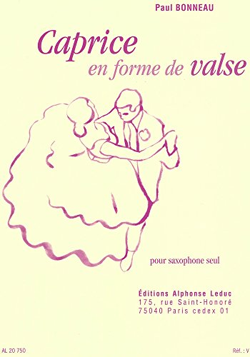 ボノー   ワルツ形式による無伴奏カプリス  サクソフォンソロ  ルデュック出版