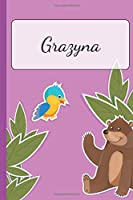 Grazyna: Personalized Name Notebook for Girls | Custemized with 110 Dot Grid Pages | Custom Journal as a Gift for your Daughter or Wife |School Supplies or as a Christmas or Birthday Present | Cute Diary