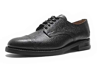 SANDERS Army Grain Derby Shoe (Black / UK 7.0)