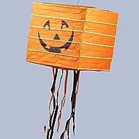 リューシン ハロウィーンの装飾の小道具カボチャのランタンハロウィーンのカボチャの紙のランタンコウモリスパイダーポータブルカボチャライト (Color : D)