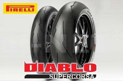 ピレリ(PIRELLI) バイクタイヤ ディアブロ スーパーコルサ SUPERCORSA SP Ver.2 120/70ZR17&200/55ZR17 M/C TL (813653)