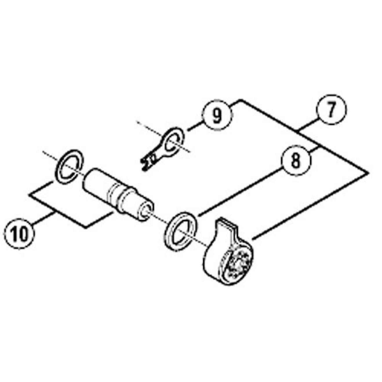 逸脱逃げるハードウェアSHIMANO(シマノ) プレート軸ユニット&P軸ワッシャー RD-M985-SGS RD-M985-GS Y5XD98050
