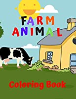 Farm Animal Coloring Book: My First Big Book Of Coloring, Ages 4-8, Animal Coloring Pages, Activity Book For Kids