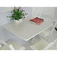 折りたたみ可能なソリッドウッドダイニングテーブル75 * 60cmの長方形の壁テーブルウッディー壁掛けデスクコンピュータデスクカラー ( 色 : 白 )
