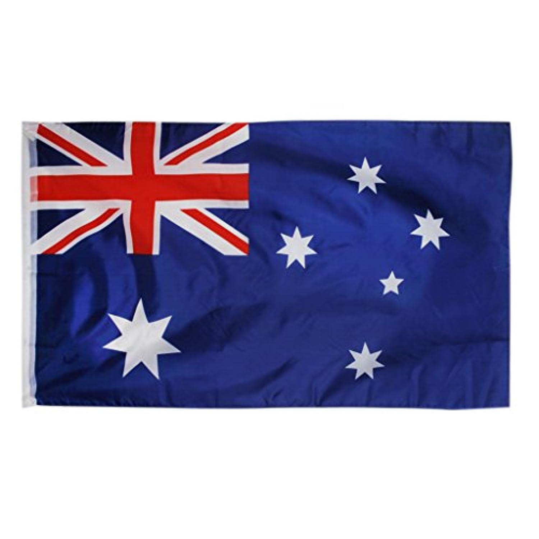 【ノーブランド品】オーストラリア国旗 ポリエステル旗 オーストラリアのオセアニア大きな旗に旗を揚げます 150*90CM