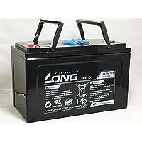 LONG 期待寿命10~15年 12V100Ah ゲルバッテリー LGK100-12N 高耐久 長寿命 完全密封型鉛蓄電池 ソーラー発電適合 キャンピングカー