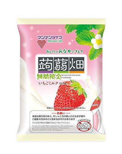 マンナンライフ 蒟蒻畑いちごミルク 25g×12個×12袋