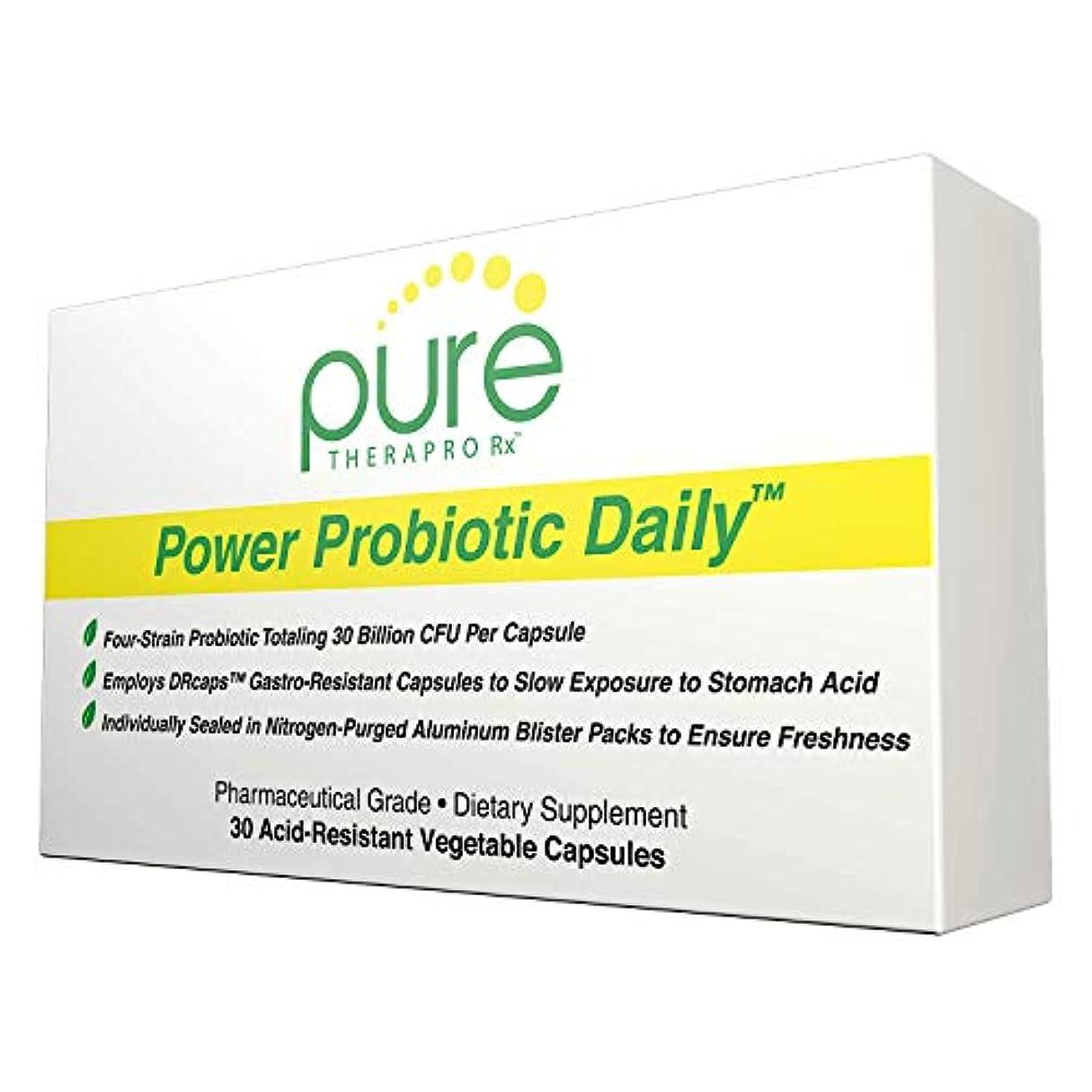 隣人タイピストディンカルビルPure Therapro Rx Power Probiotic Daily Total 30 Billion CFU 30 Acid-Resistant Vcaps