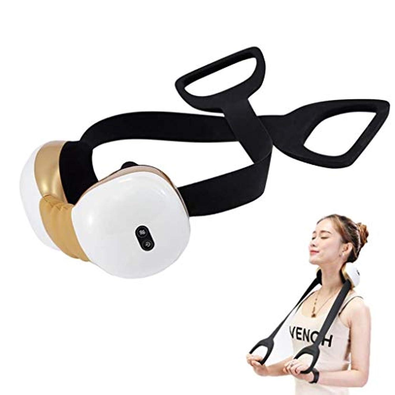 閉じ込める協同肥満電動ネックマッサージャー、子宮頸部マッサージャー、加熱/調整可能/USB充電、20分間の自動開閉機能、筋肉のリラックス、痛みと疲労の緩和