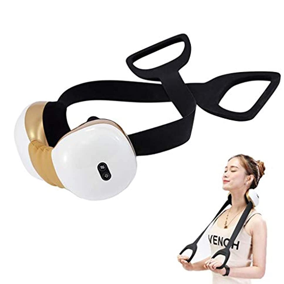 イソギンチャクあえぎ申し立てる電動ネックマッサージャー、子宮頸部マッサージャー、加熱/調整可能/USB充電、20分間の自動開閉機能、筋肉のリラックス、痛みと疲労の緩和