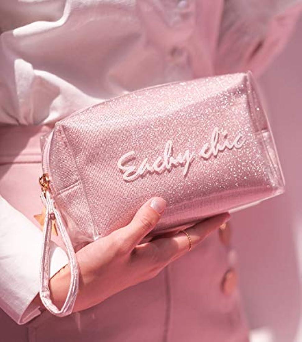 無駄にうなずく代わりのBUBMバブ化粧品ポーチ旅行整理化粧品収納袋ポータブル防水透明メッシュ温泉、ビーチサイド旅行、出張 (style 2-pink)