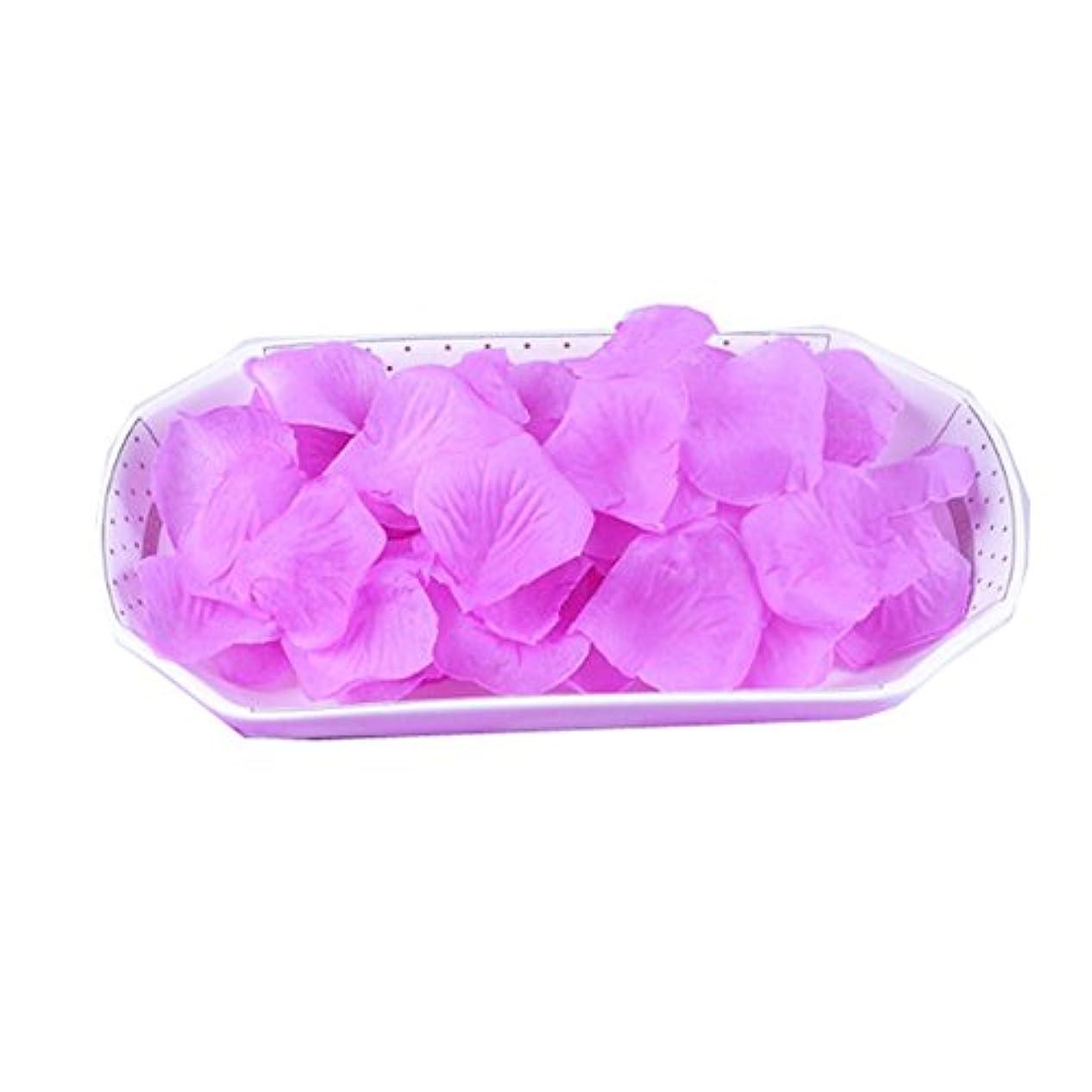 多数の妻復活させる結婚式の2000 PC用の人工花びら紫