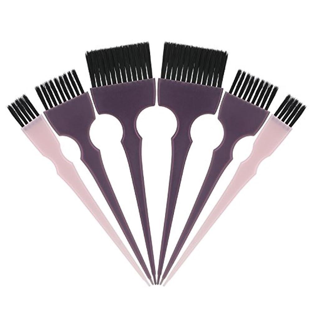 やさしく前にどのくらいの頻度でSegbeauty 髪染めのブラシ 六本のセット サロンの美髪用 プロのヘアカラーリング用