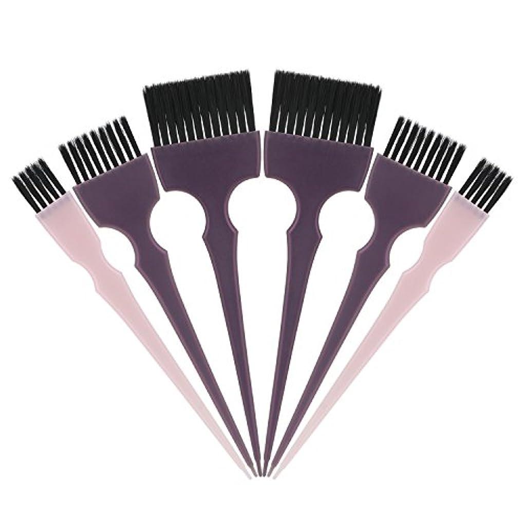 ハプニング安定フルーツSegbeauty 髪染めのブラシ 六本のセット サロンの美髪用 プロのヘアカラーリング用