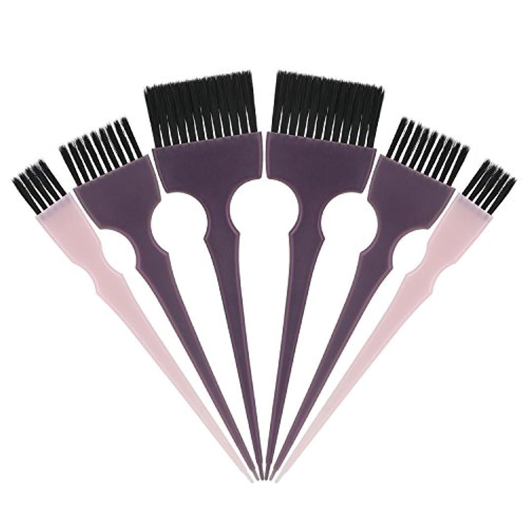 感嘆キャプション繊細Segbeauty 髪染めのブラシ 六本のセット サロンの美髪用 プロのヘアカラーリング用
