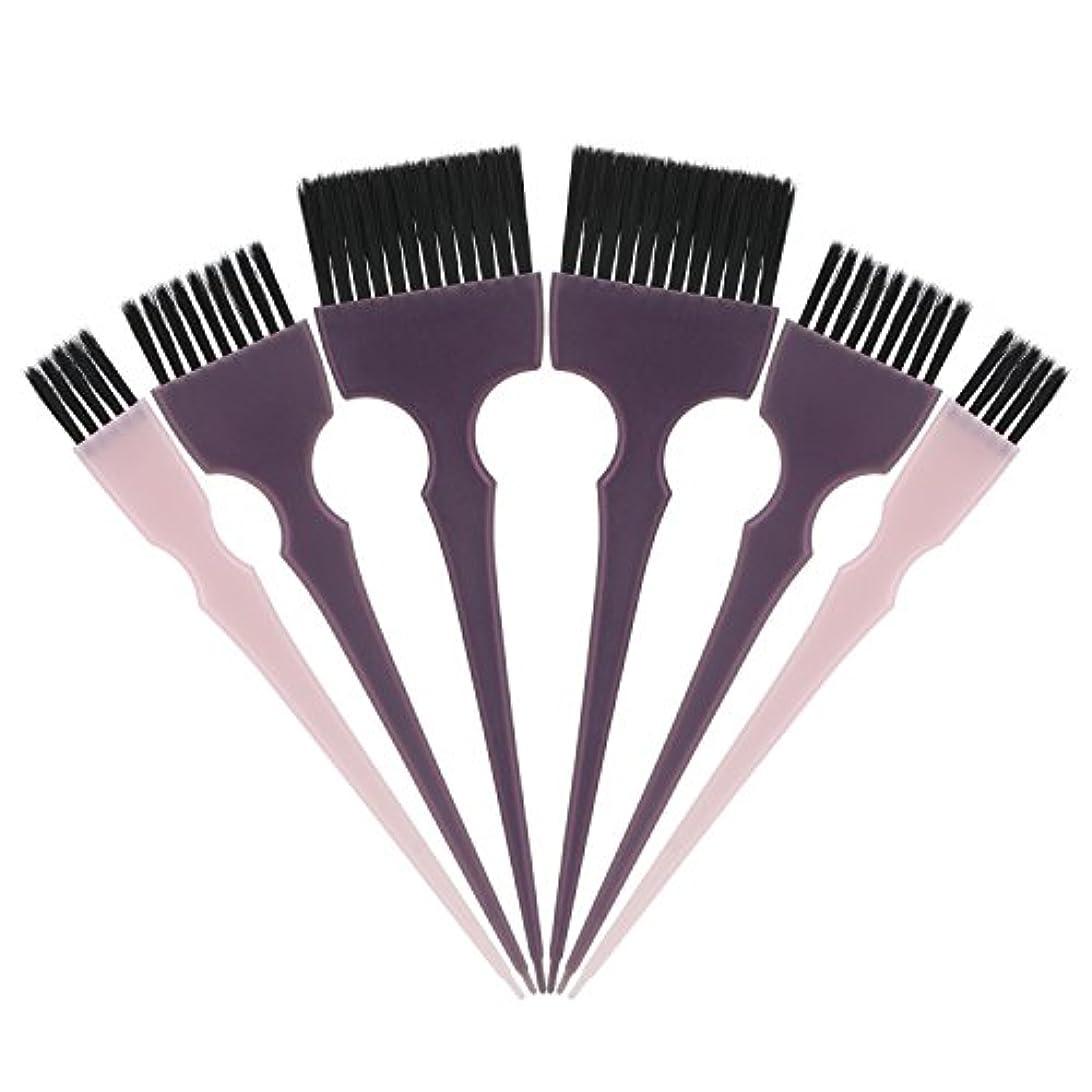 生き物反動移動Segbeauty 髪染めのブラシ 六本のセット サロンの美髪用 プロのヘアカラーリング用