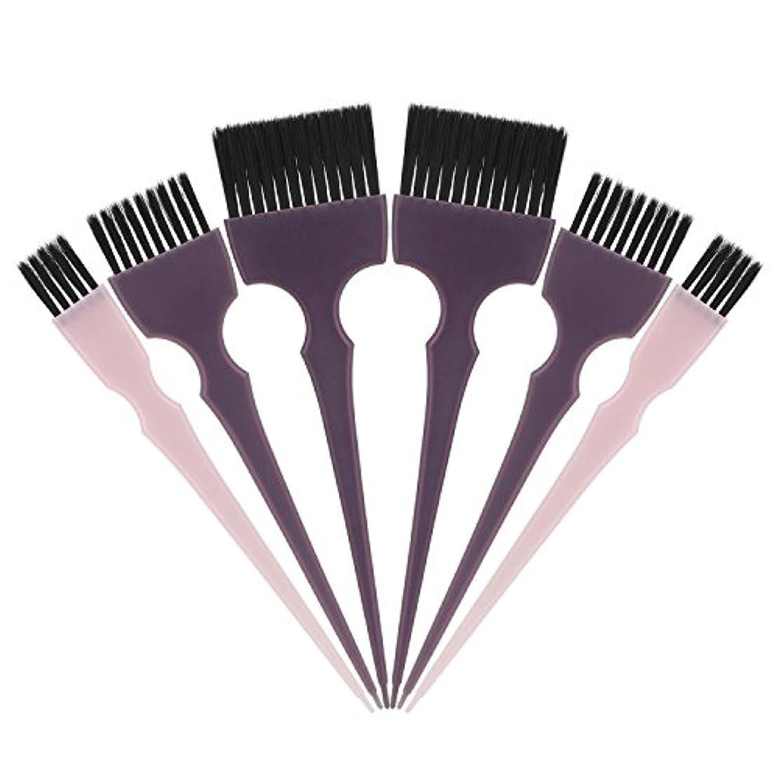 ロゴ取り出すトンネルSegbeauty 髪染めのブラシ 六本のセット サロンの美髪用 プロのヘアカラーリング用