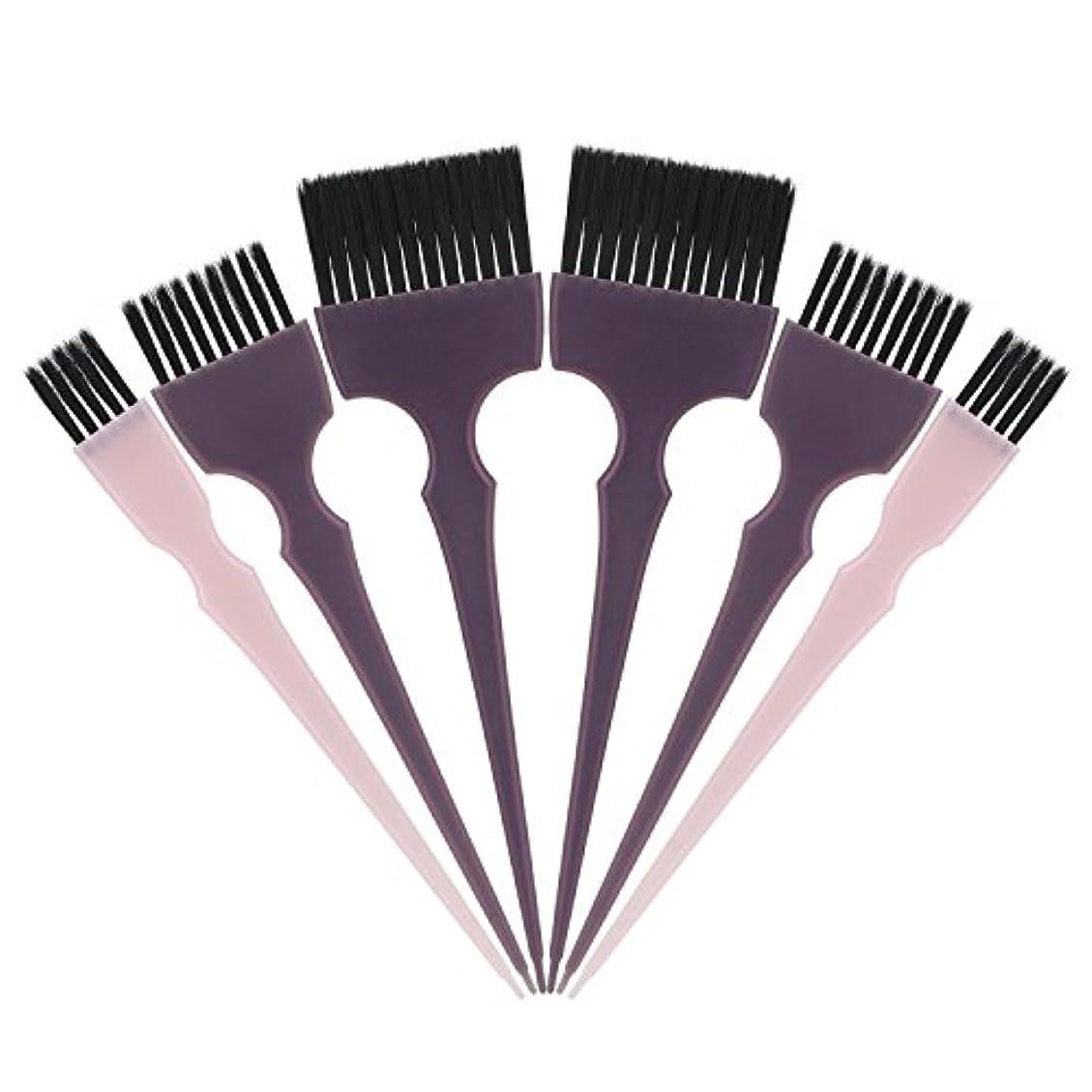 進捗力同意するSegbeauty 髪染めのブラシ 六本のセット サロンの美髪用 プロのヘアカラーリング用