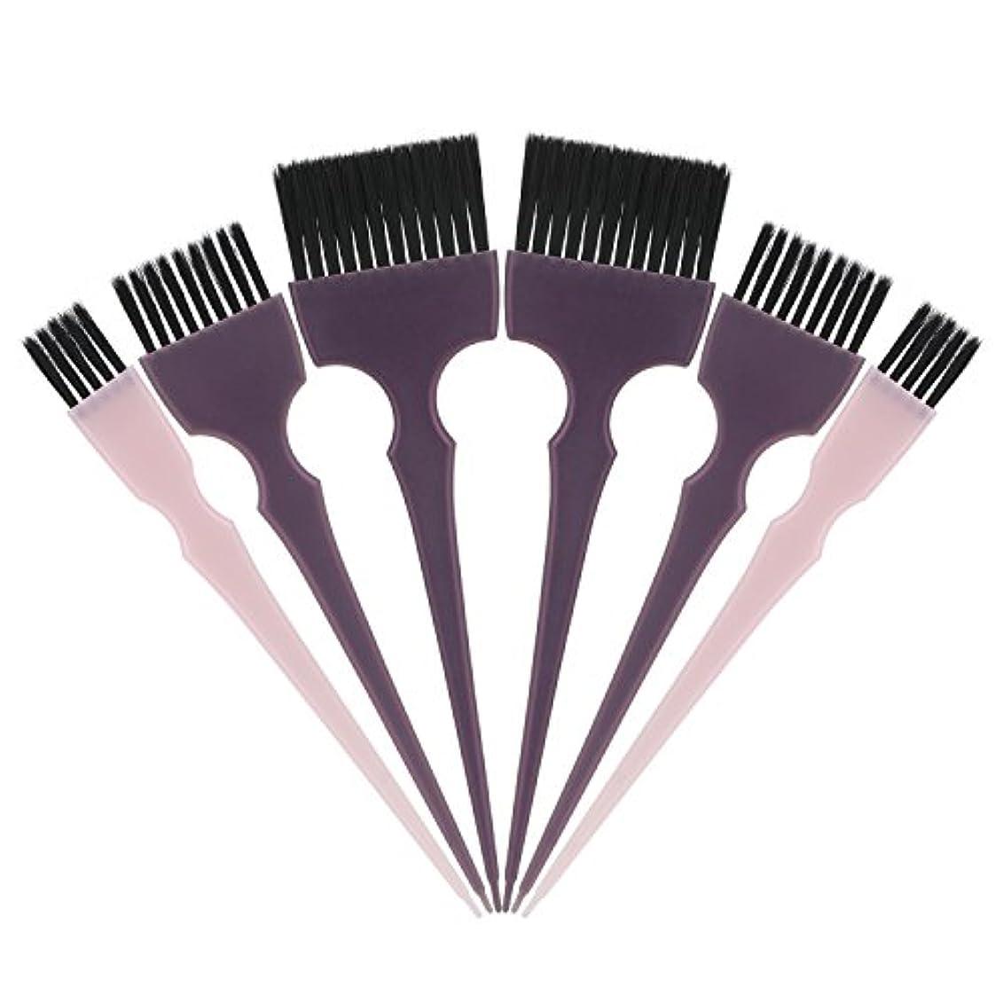 見出し炭水化物ひらめきSegbeauty 髪染めのブラシ 六本のセット サロンの美髪用 プロのヘアカラーリング用