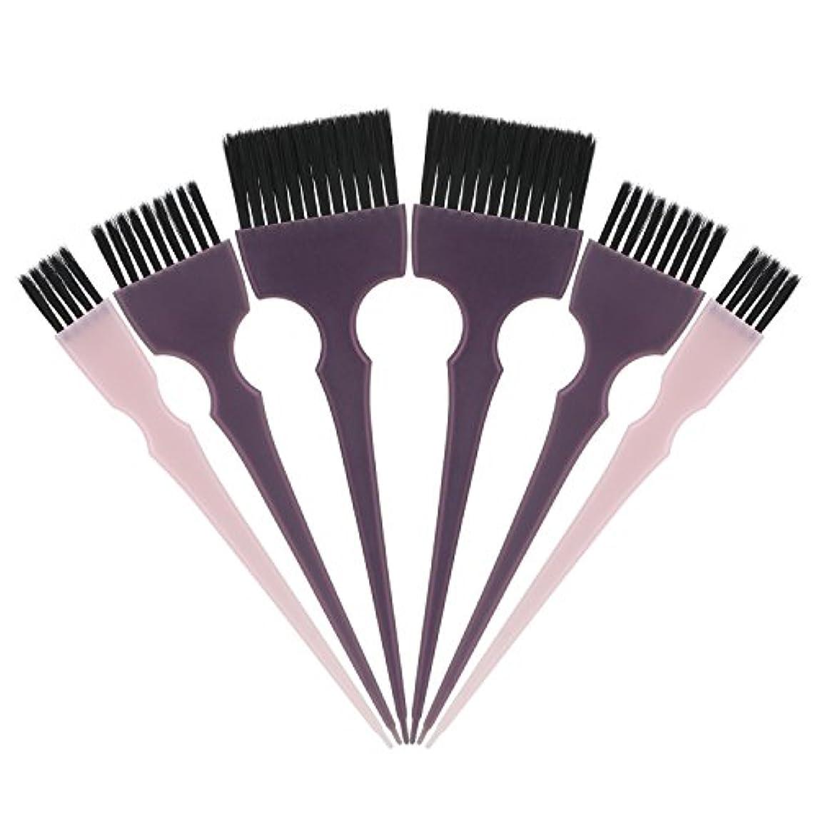 狂人インド以内にSegbeauty 髪染めのブラシ 六本のセット サロンの美髪用 プロのヘアカラーリング用