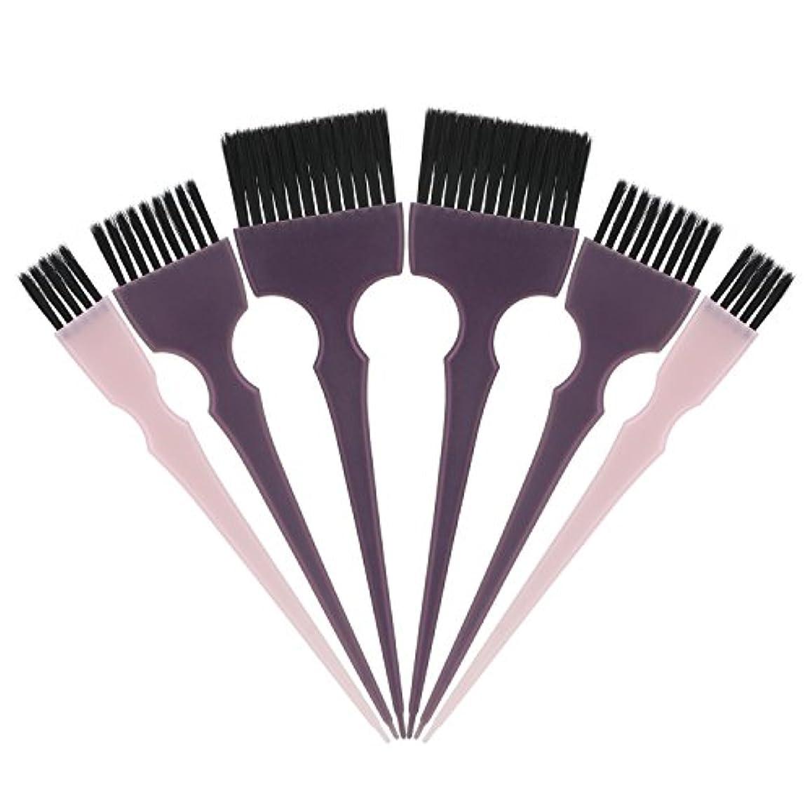 人気の防ぐ拮抗するSegbeauty 髪染めのブラシ 六本のセット サロンの美髪用 プロのヘアカラーリング用
