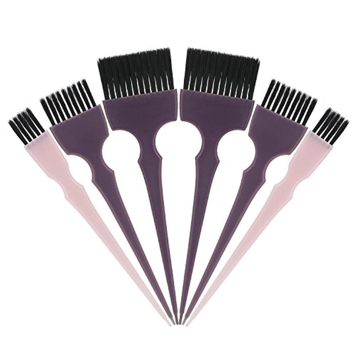 あたたかいズボンどきどきSegbeauty 髪染めのブラシ 六本のセット サロンの美髪用 プロのヘアカラーリング用