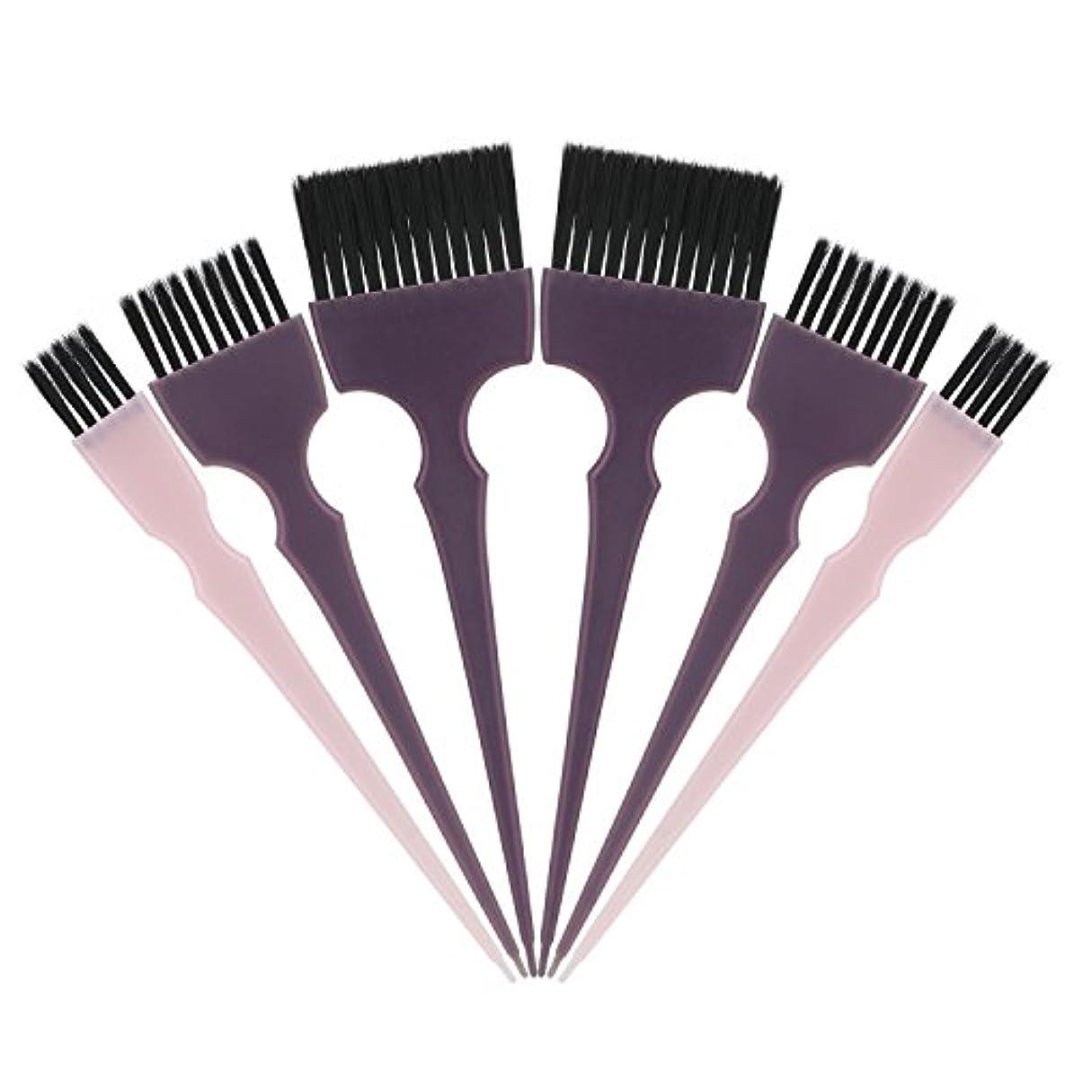 レンズアクセントと組むSegbeauty 髪染めのブラシ 六本のセット サロンの美髪用 プロのヘアカラーリング用