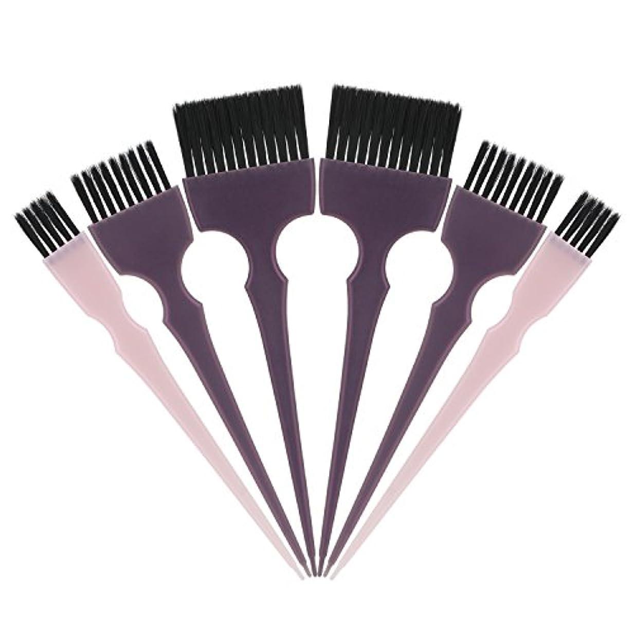 半球レベル仮称Segbeauty 髪染めのブラシ 六本のセット サロンの美髪用 プロのヘアカラーリング用