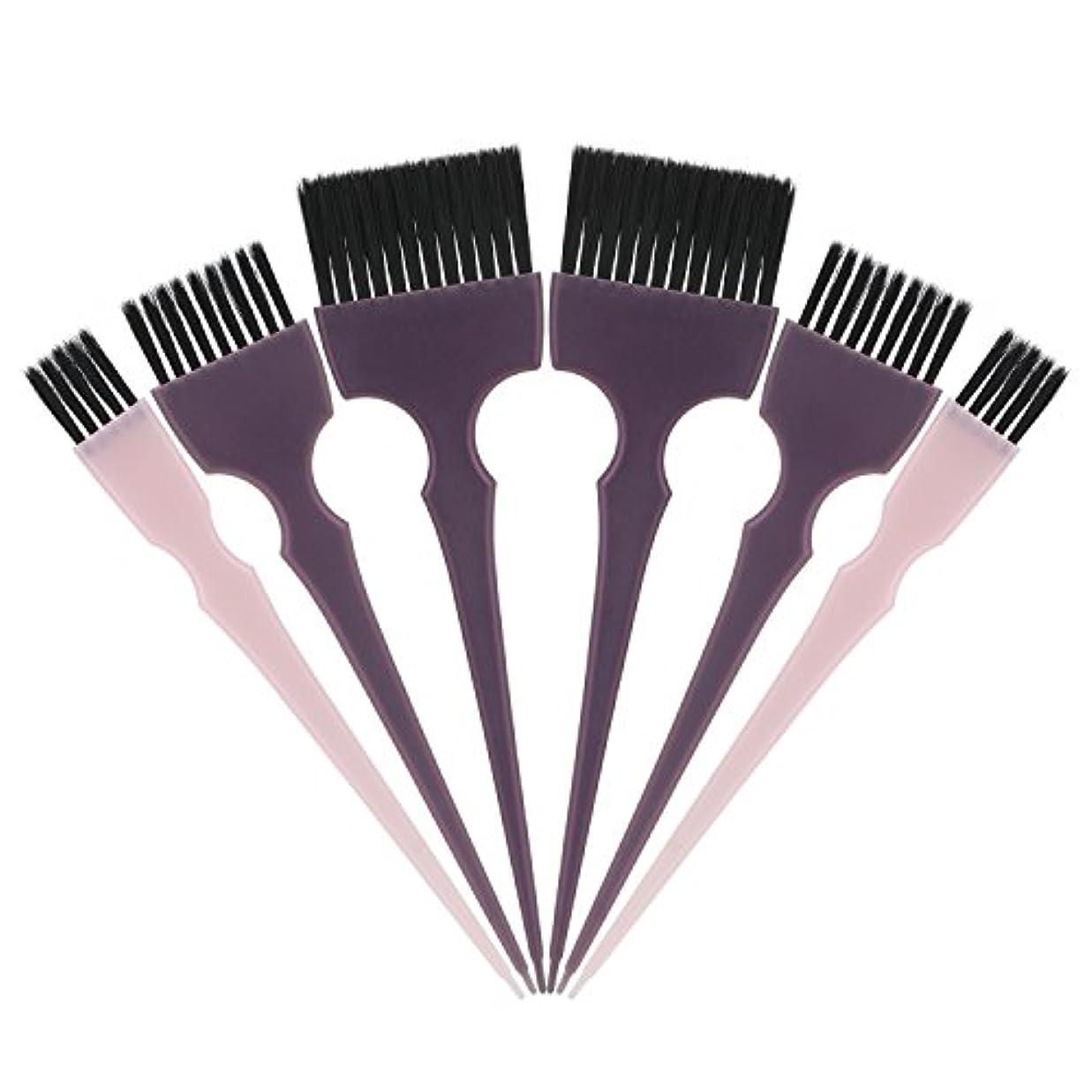 正しくプレゼン次Segbeauty 髪染めのブラシ 六本のセット サロンの美髪用 プロのヘアカラーリング用