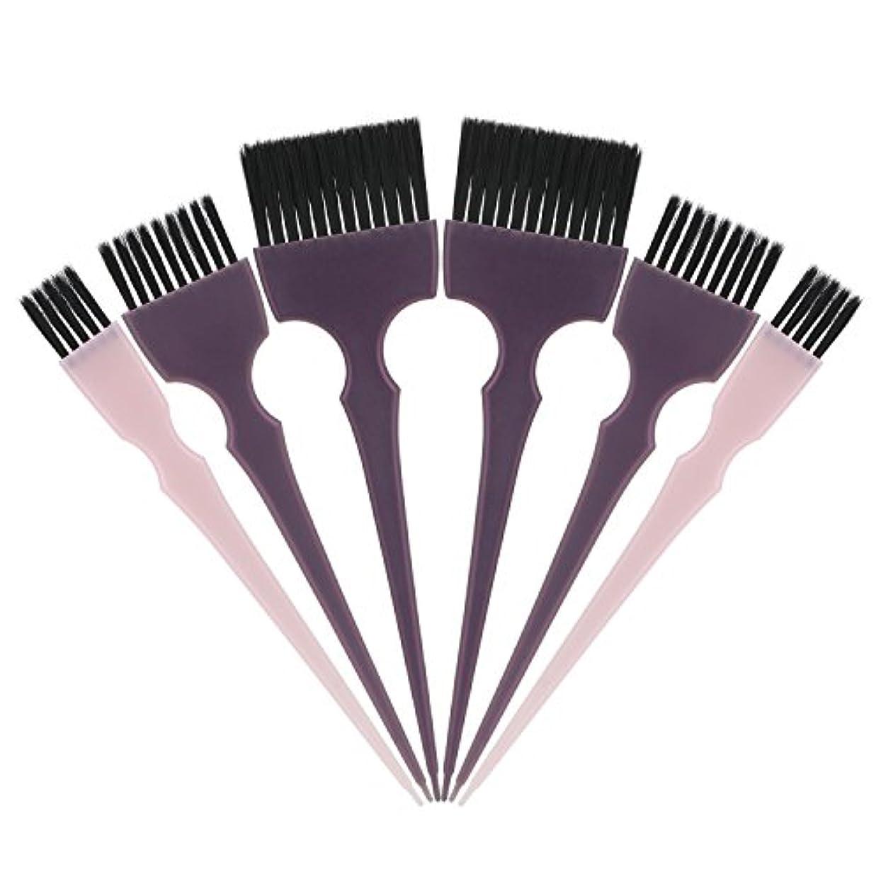 ガイダンスコジオスコチェスをするSegbeauty 髪染めのブラシ 六本のセット サロンの美髪用 プロのヘアカラーリング用
