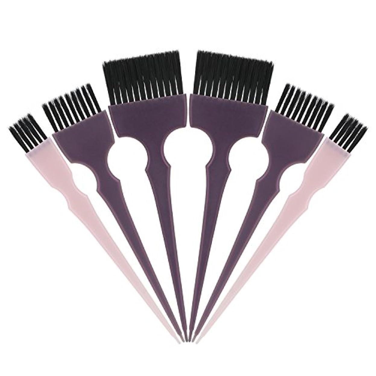 アナウンサー味わう分析的なSegbeauty 髪染めのブラシ 六本のセット サロンの美髪用 プロのヘアカラーリング用