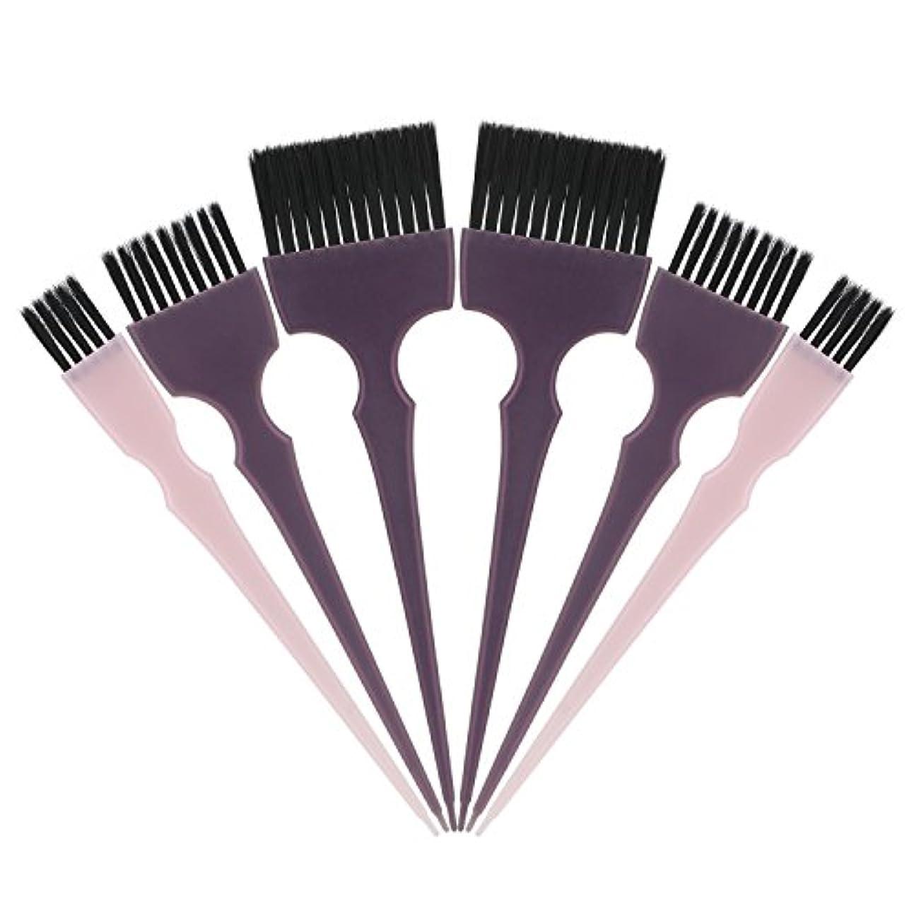 経度まあトリムSegbeauty 髪染めのブラシ 六本のセット サロンの美髪用 プロのヘアカラーリング用