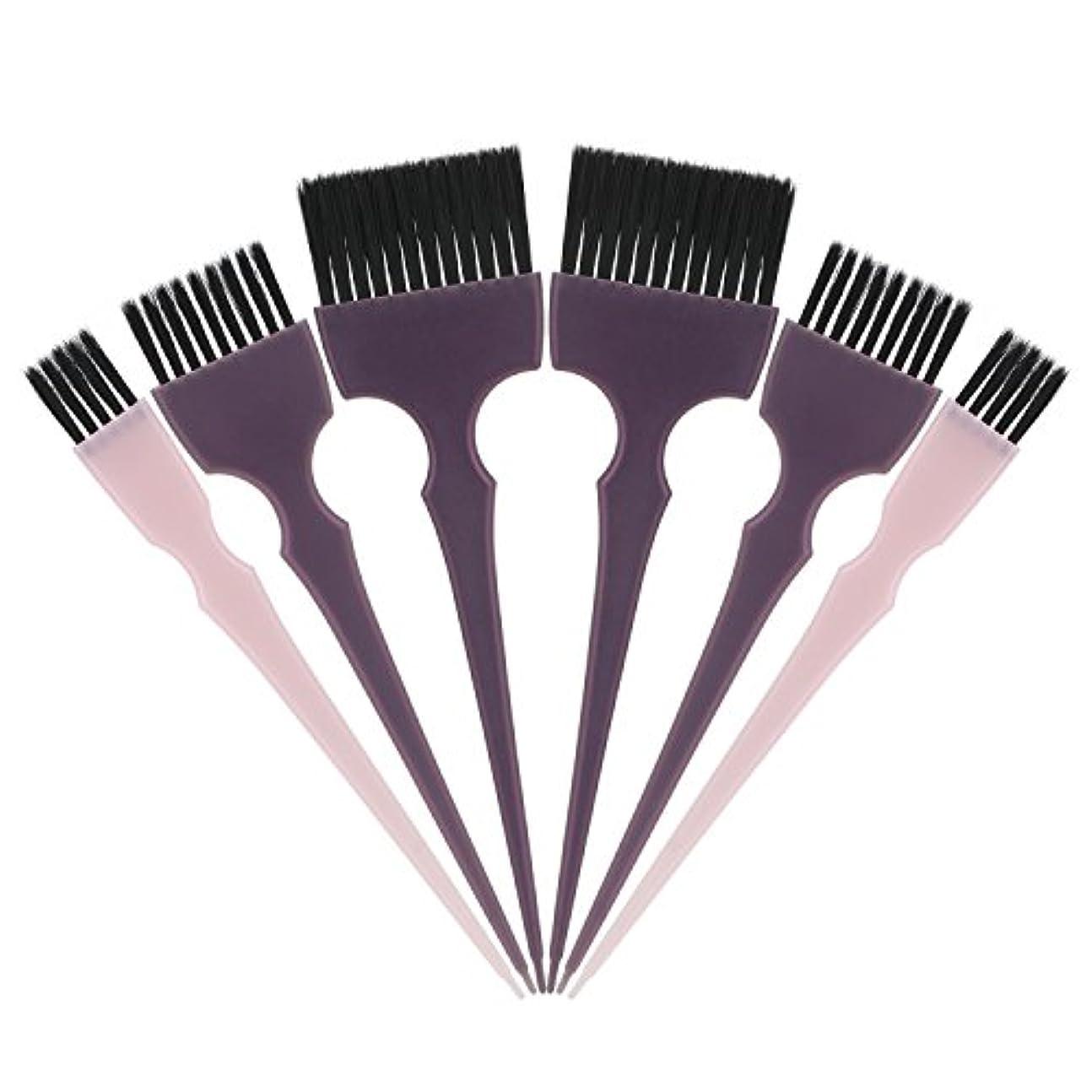 長老人道的永続Segbeauty 髪染めのブラシ 六本のセット サロンの美髪用 プロのヘアカラーリング用
