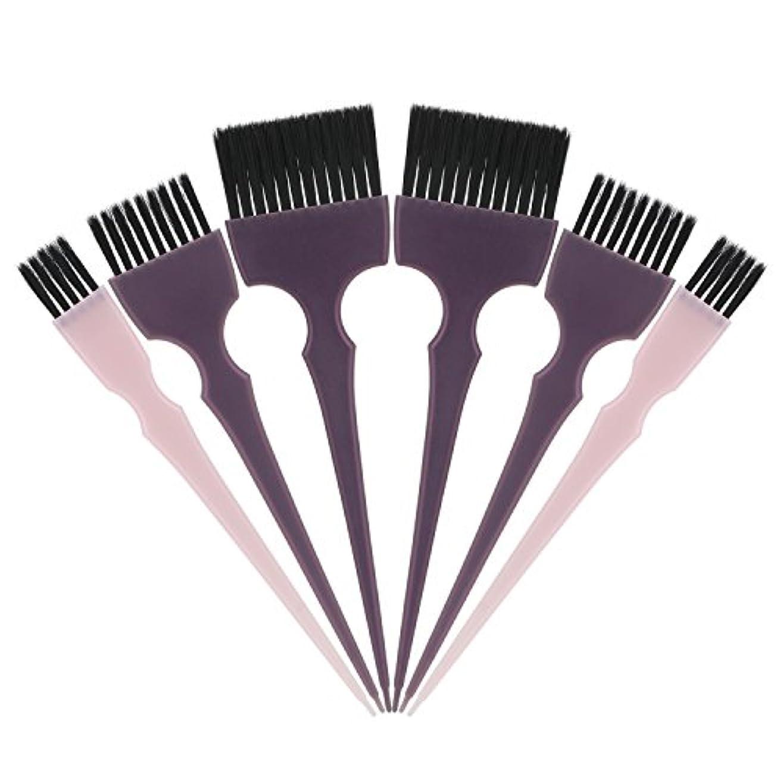 手綱ディスクに負けるSegbeauty 髪染めのブラシ 六本のセット サロンの美髪用 プロのヘアカラーリング用