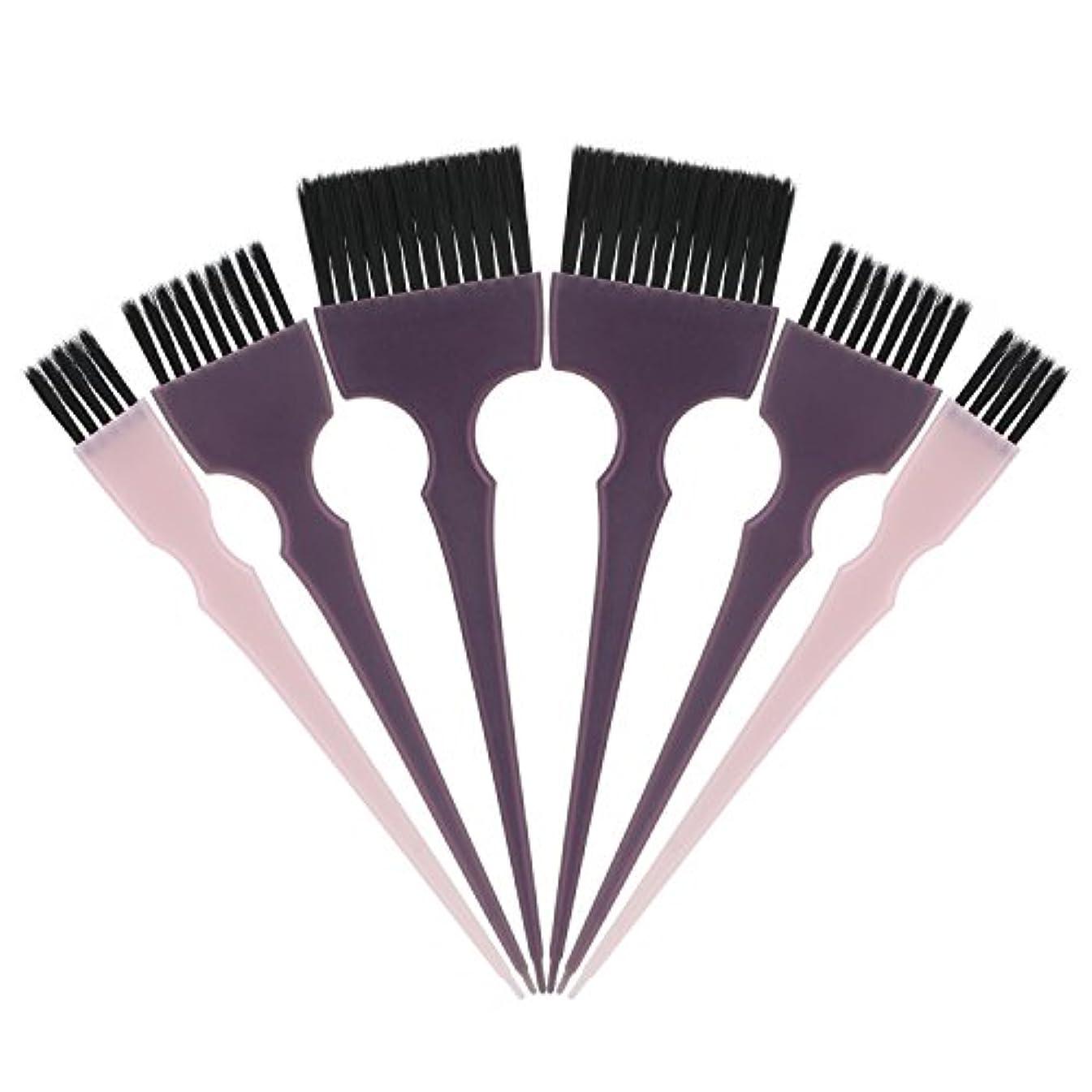ウェイター奨励します貧困Segbeauty 髪染めのブラシ 六本のセット サロンの美髪用 プロのヘアカラーリング用