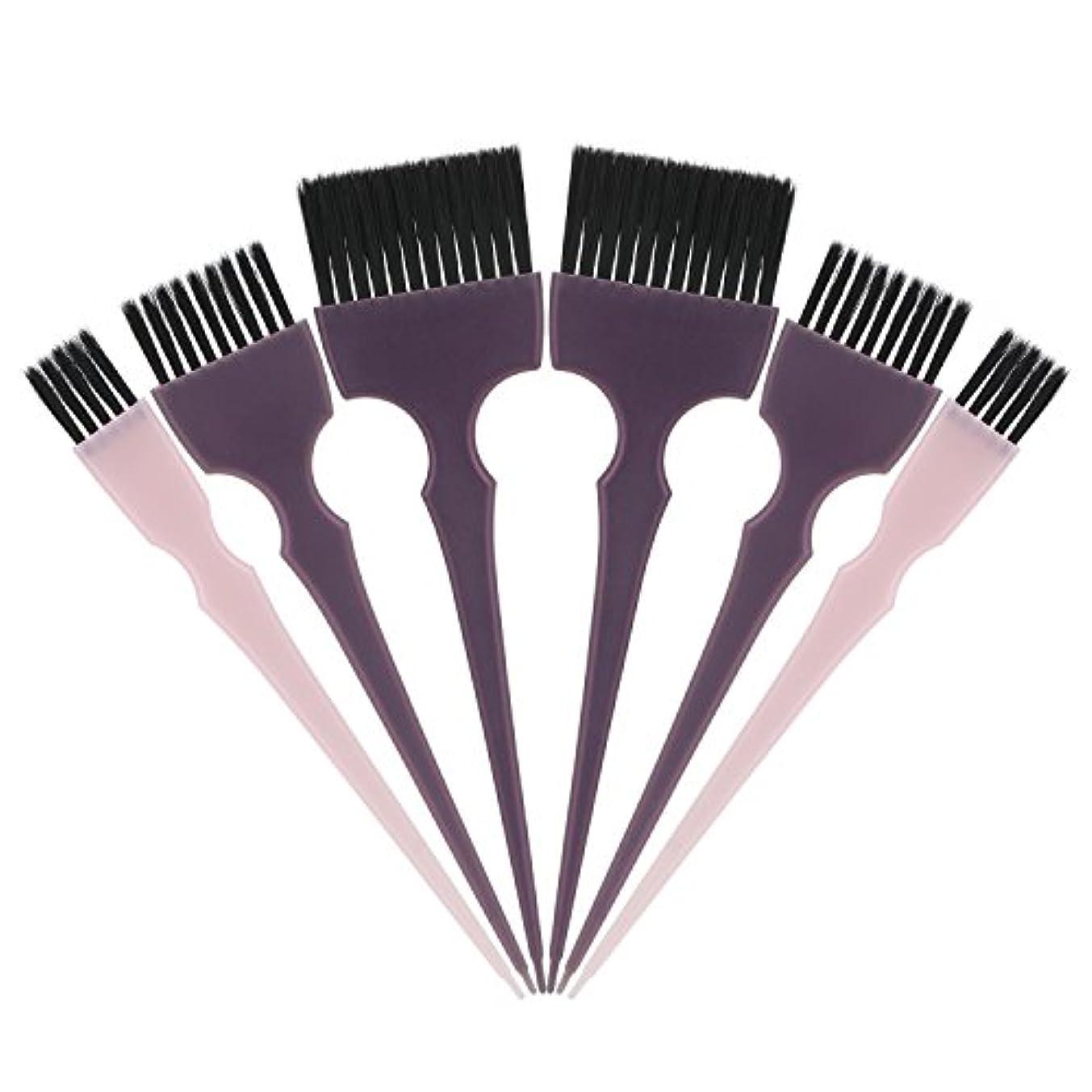 仮装まろやかな大通りSegbeauty 髪染めのブラシ 六本のセット サロンの美髪用 プロのヘアカラーリング用