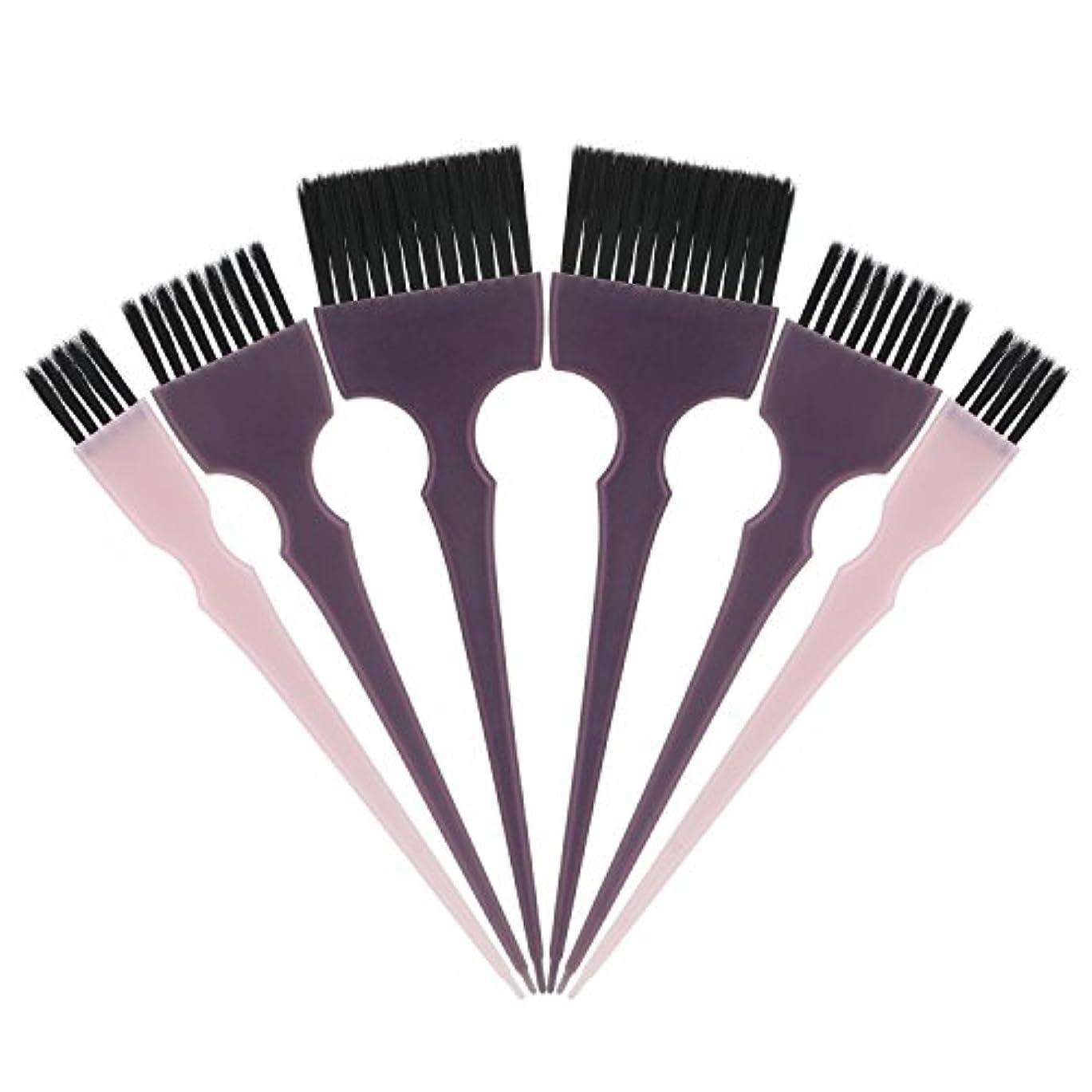 アッティカス政権快適Segbeauty 髪染めのブラシ 六本のセット サロンの美髪用 プロのヘアカラーリング用