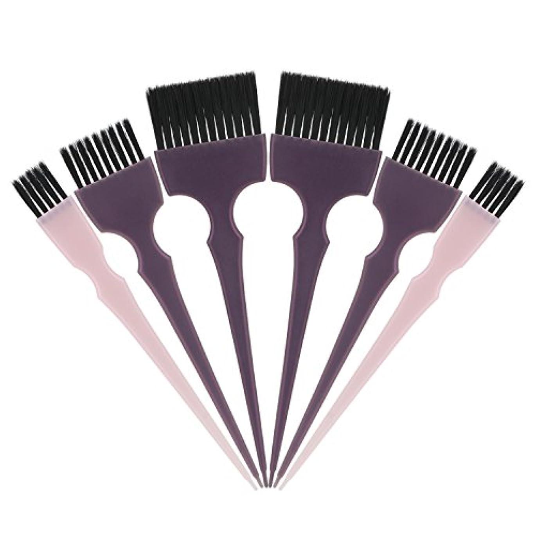 ケニアショッキング用心深いSegbeauty 髪染めのブラシ 六本のセット サロンの美髪用 プロのヘアカラーリング用