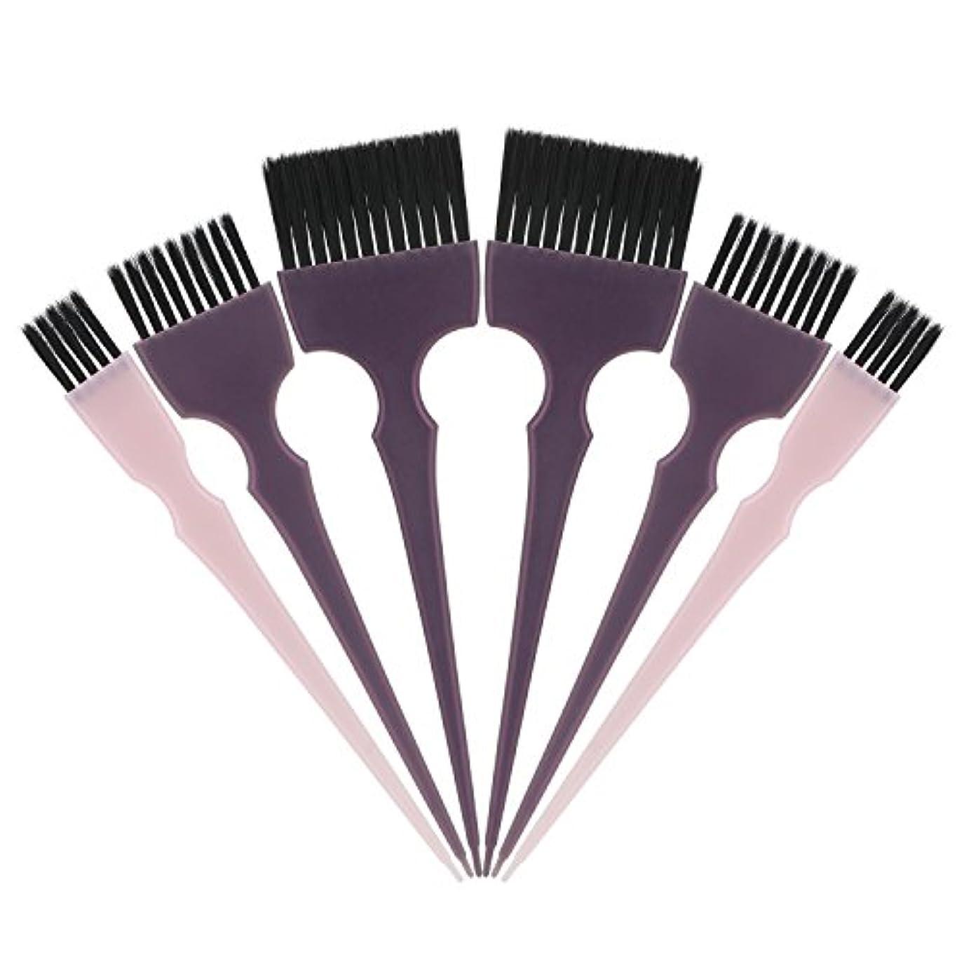 Segbeauty 髪染めのブラシ 六本のセット サロンの美髪用 プロのヘアカラーリング用