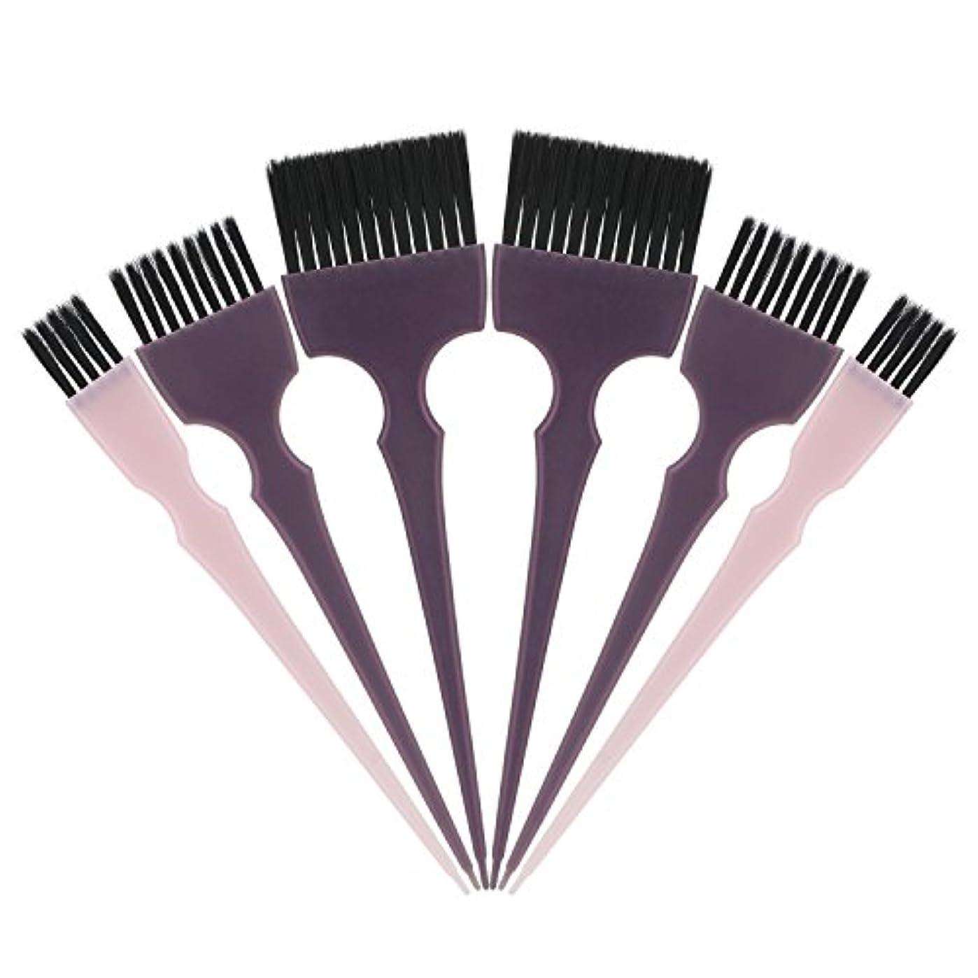 あごにじみ出る疎外Segbeauty 髪染めのブラシ 六本のセット サロンの美髪用 プロのヘアカラーリング用
