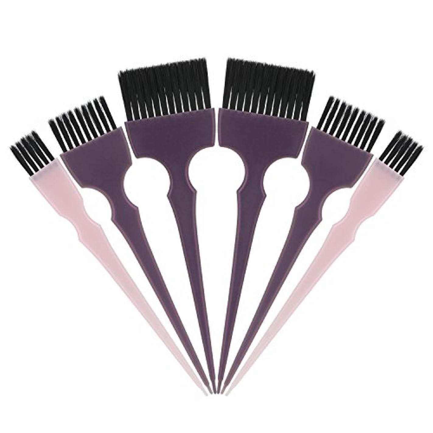 リマークアライメント世界記録のギネスブックSegbeauty 髪染めのブラシ 六本のセット サロンの美髪用 プロのヘアカラーリング用