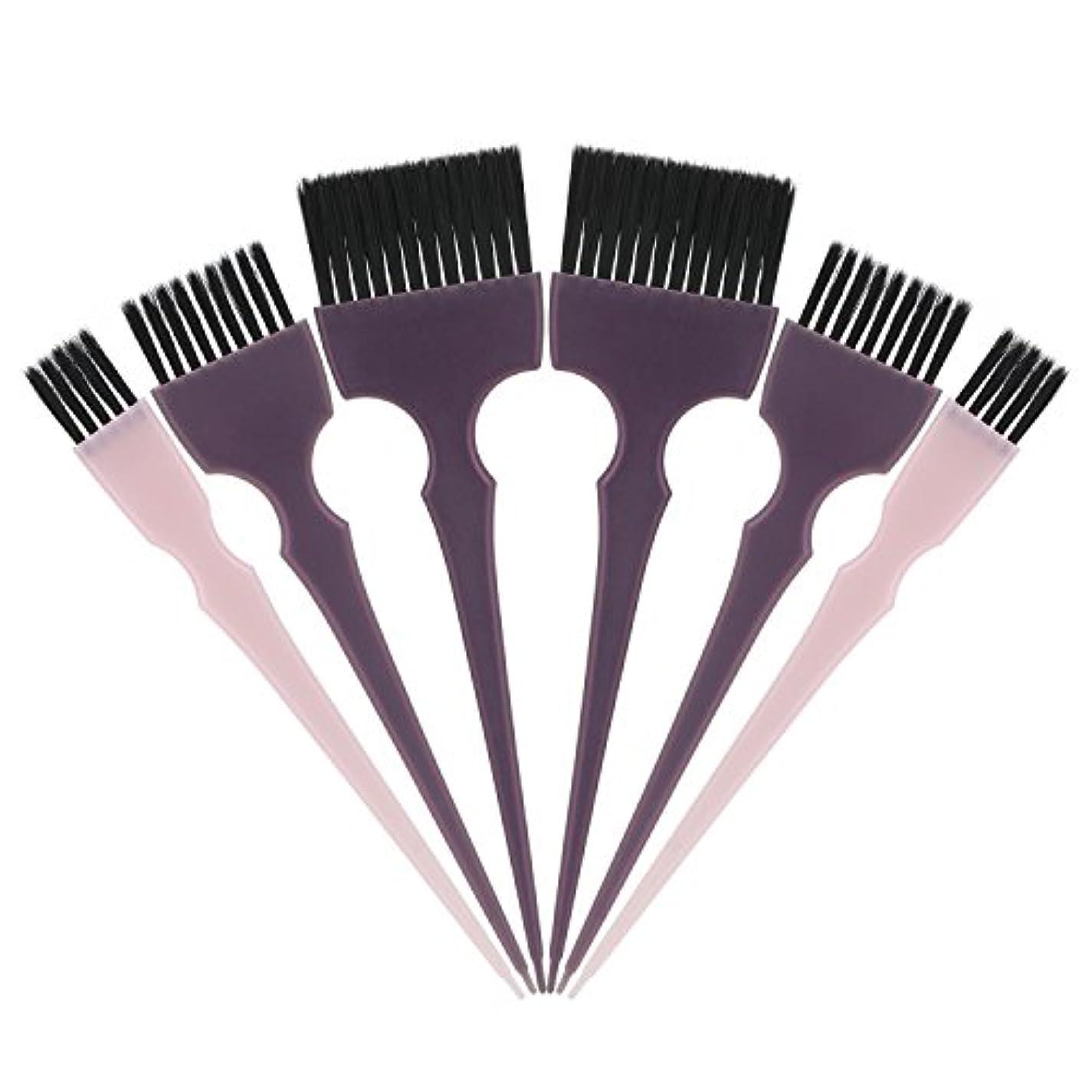元気教養がある突然のSegbeauty 髪染めのブラシ 六本のセット サロンの美髪用 プロのヘアカラーリング用