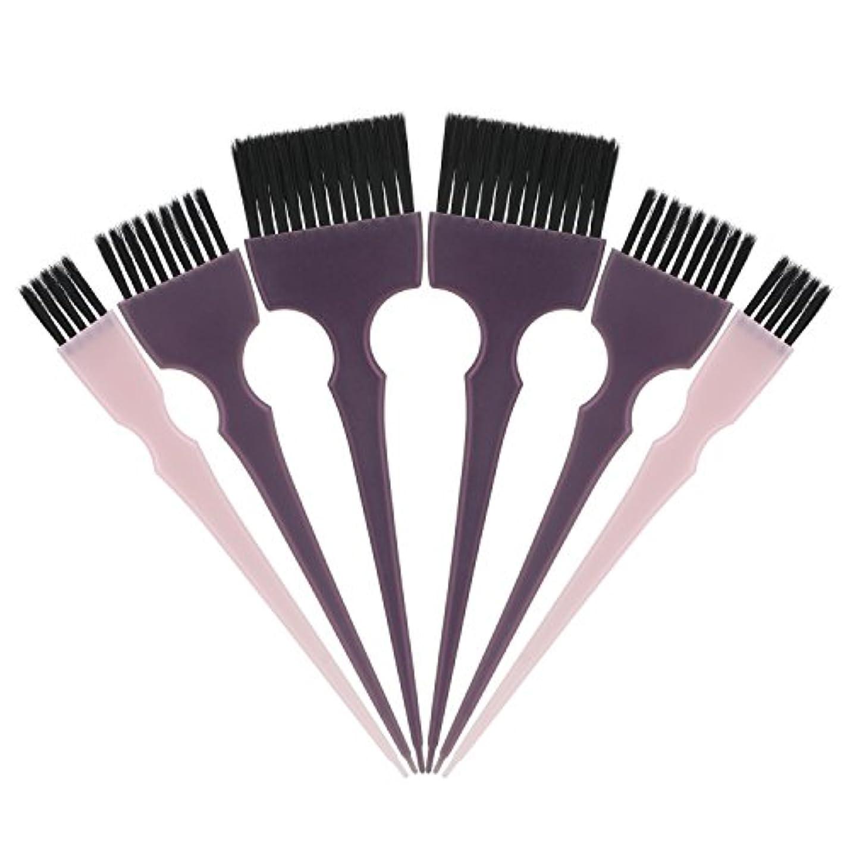 上昇請願者脱臼するSegbeauty 髪染めのブラシ 六本のセット サロンの美髪用 プロのヘアカラーリング用