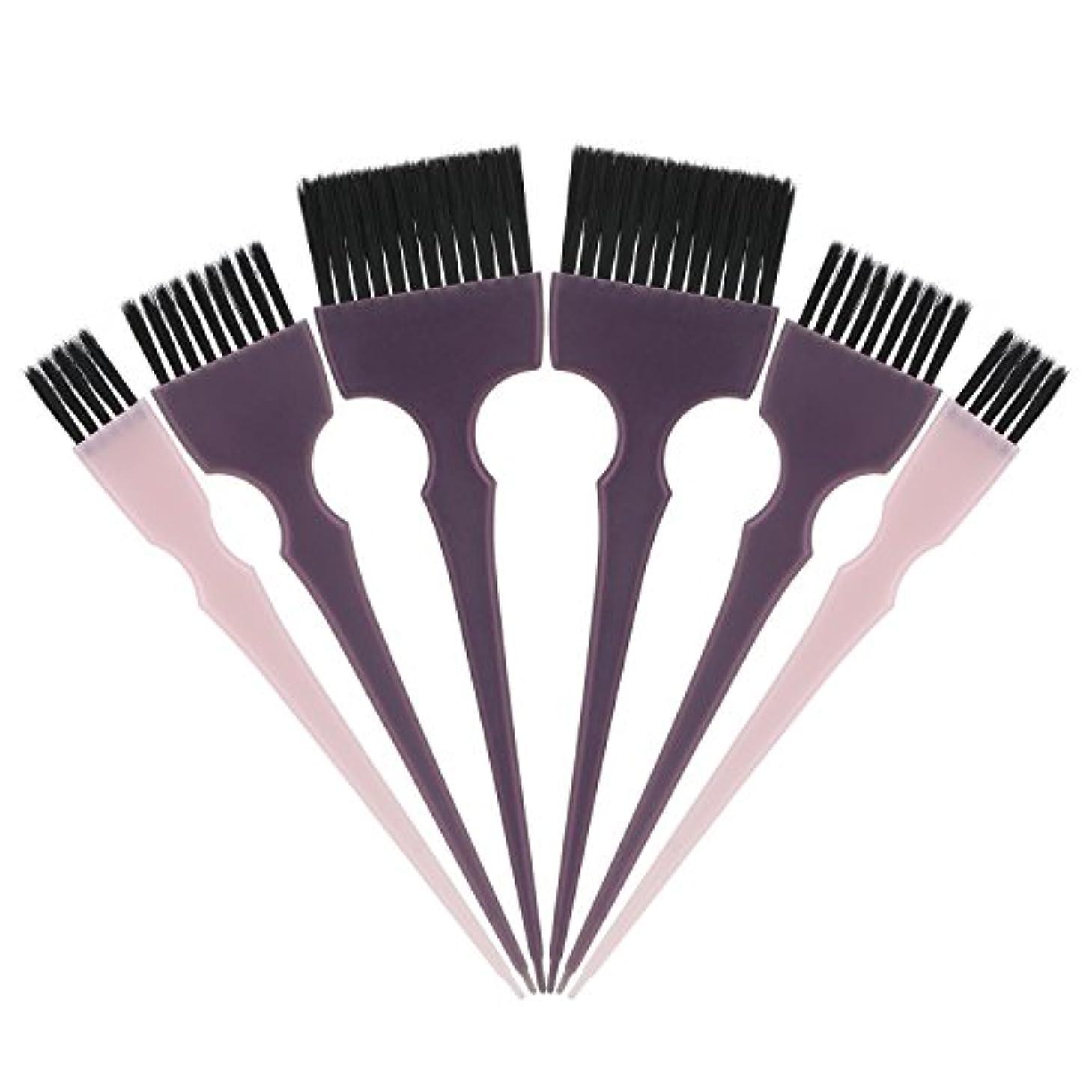 一般化する軍団不愉快にSegbeauty 髪染めのブラシ 六本のセット サロンの美髪用 プロのヘアカラーリング用