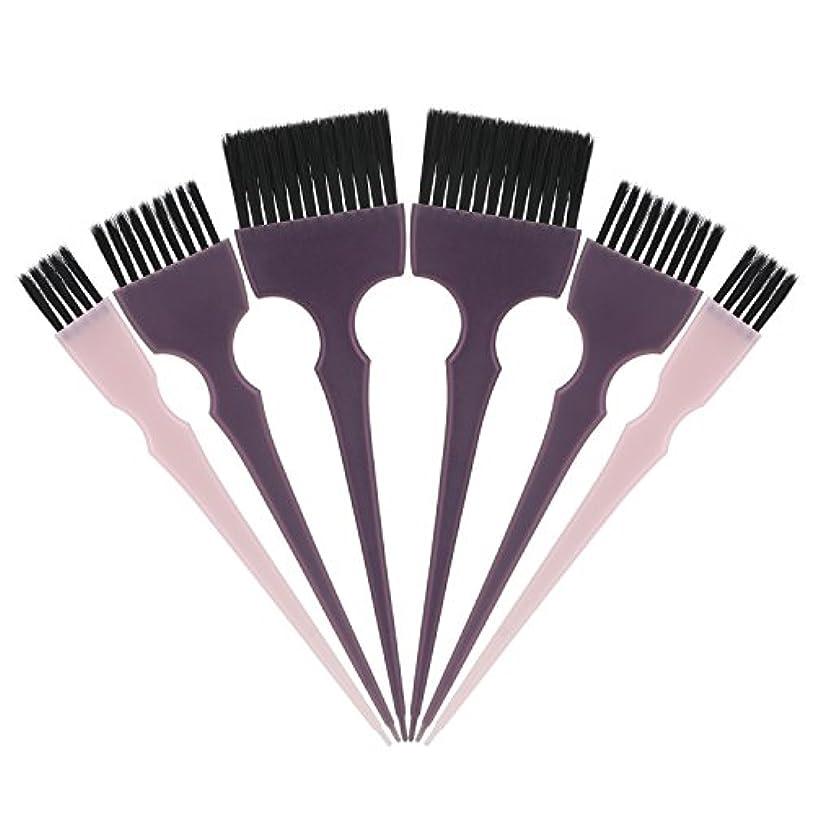 インク自分自身印象Segbeauty 髪染めのブラシ 六本のセット サロンの美髪用 プロのヘアカラーリング用