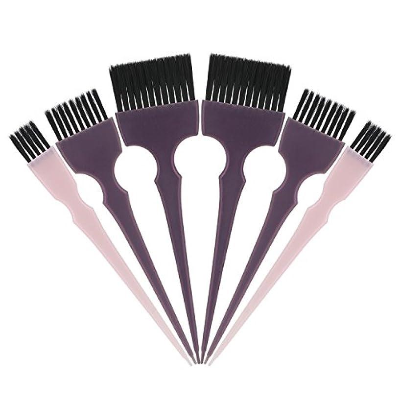 覗く役員コレクションSegbeauty 髪染めのブラシ 六本のセット サロンの美髪用 プロのヘアカラーリング用