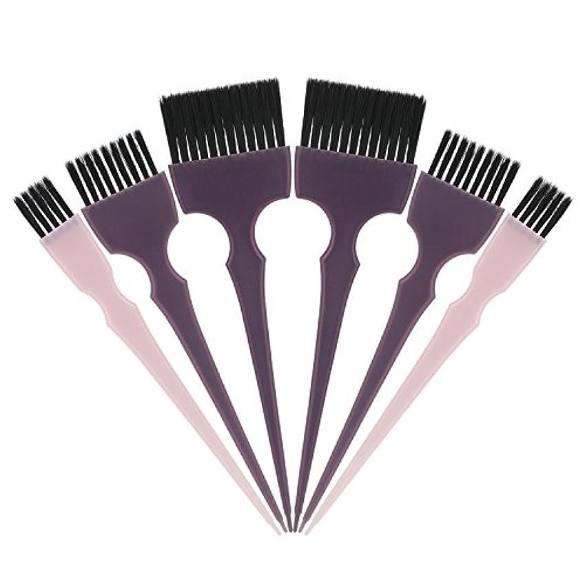 孤独建築家彼はSegbeauty 髪染めのブラシ 六本のセット サロンの美髪用 プロのヘアカラーリング用