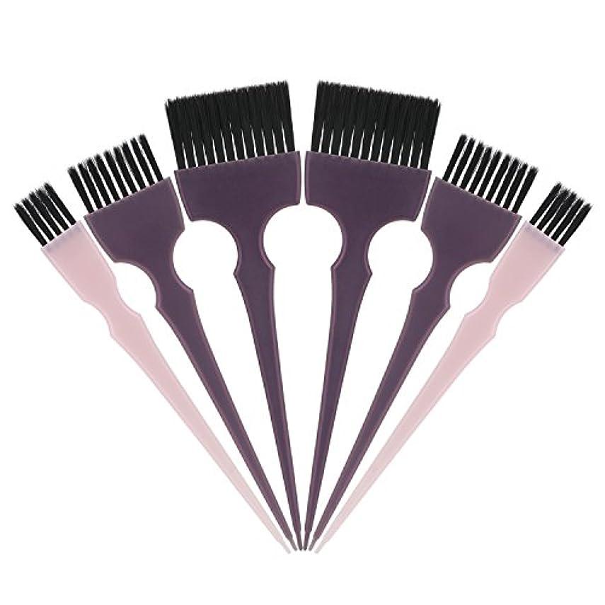 破壊的保存する陰謀Segbeauty 髪染めのブラシ 六本のセット サロンの美髪用 プロのヘアカラーリング用